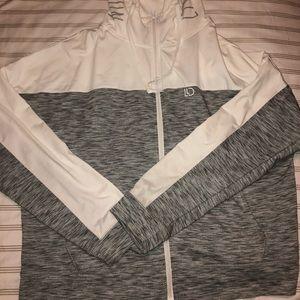 Aeropostale Jackets & Coats - White and Grey Aeropostale Zip Up Athletic Hoodie
